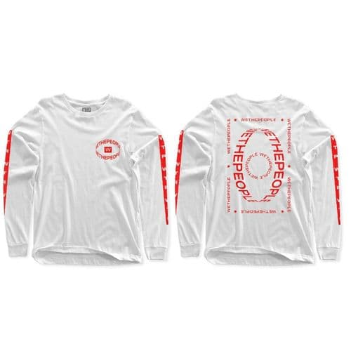 Wethepeople Saturn Long Sleeve T-Shirt White Red X Large